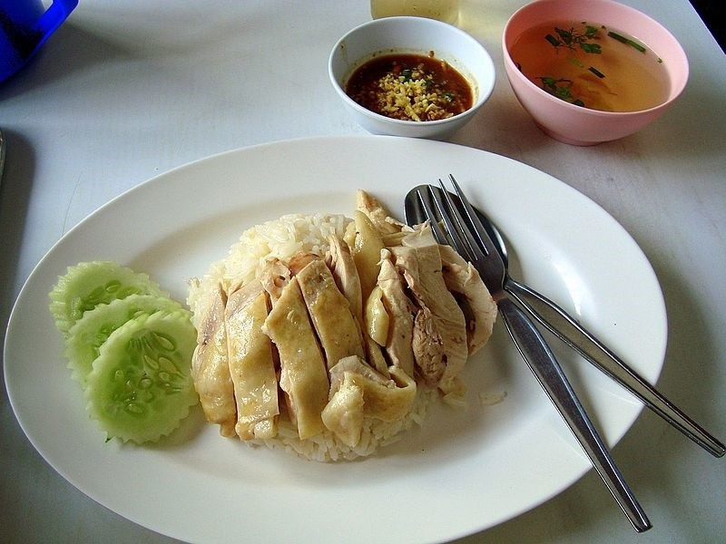 Khao man gai - chicken and rice