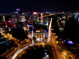 Ho Chi Minh City By Night-Vietnamese Water Puppets © mind42