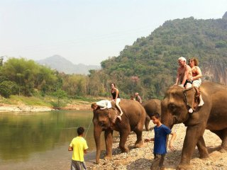 Cycling Tour 1 day around Luang Prabang, discovery of the countryside of the World Heritage Town! © insighttravelasia