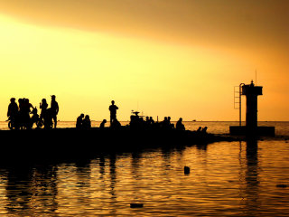 Sunset at Duong Dong Harbour © Gavin White