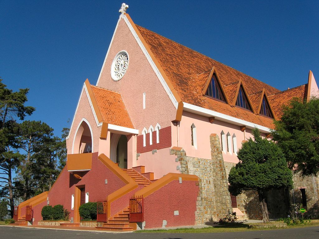 Domaine de marie church in dalat attraction in dalat Domaine architecture