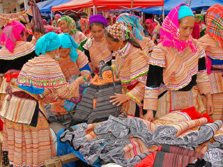 Bac Ha Market - Buffalo Cart & Boat Trip