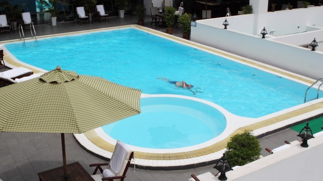 Swimming pool at rex hotel in ho chi minh attraction in Ho chi minh city hotels with swimming pool