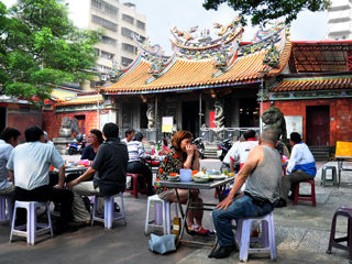 Mazu temple's beer garden