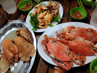 Seafood BBQ restaurants