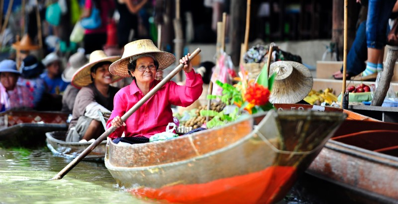 Floating Market & Cooking Class - Rural Thai food and canal-side life