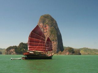 James Bond Island Tour by June Bahtra JUNK Boat © phukettoursdirect