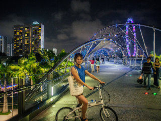 Evening Singapore Cycling Tour