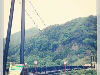 Kinu Tateiwa Otsuribashi (Suspension bridge) © iPooh3 いなぷー