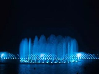 Music fountain show