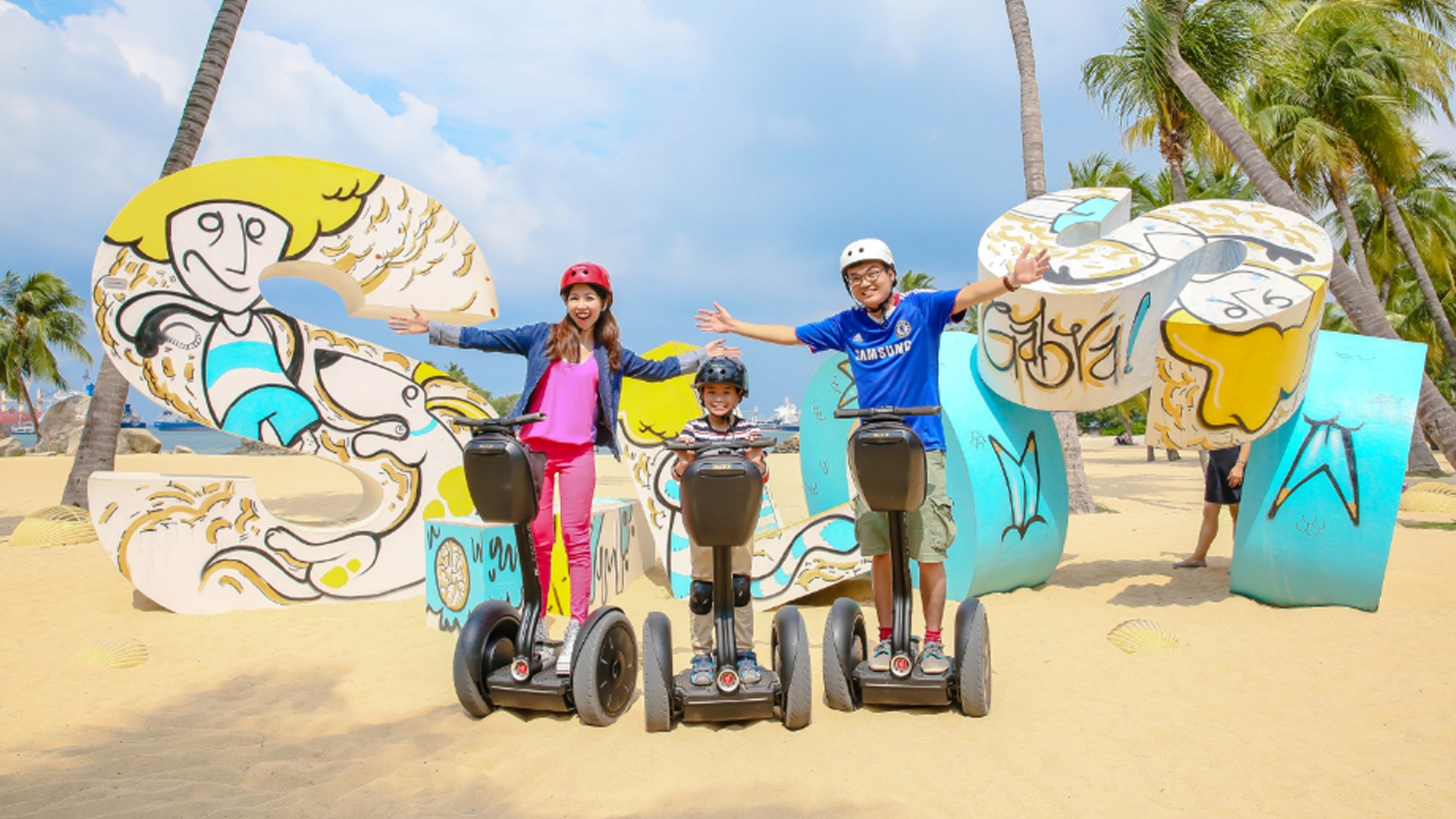 Sentosa Island Singapore Travel Guide And Tips Justgola Trip Planner Kidzania Gogreen Segway Eco Adventure