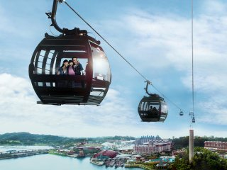 Singapore Cable Car Sky Network © Sentosa
