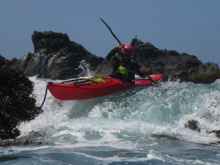 Sea kayak paddling experience